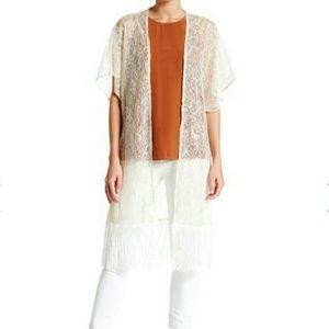 Betsey Johnson Jackets & Blazers - Betsey Johnson Metallic Lace Kimono