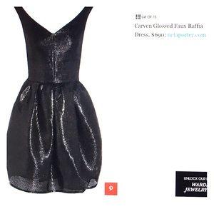 Carven Dresses & Skirts - CARVEN Glossed Faux Raffia dress Size 36