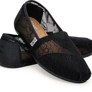 Classic Black Lace TOMS