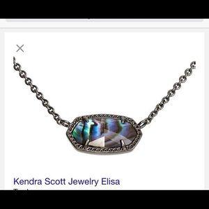 Kendra Scott Jewelry - Kendra Scott Elisa gunmetal necklace- brand new!