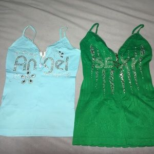 2 for the price of 1 Baby blue&green Size small