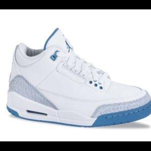 Nike Other - Rare Air Jordan Retro 3 harbor blue/white