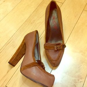 Miss Sixty Shoes - Miss Sixty heeled loafers light brown