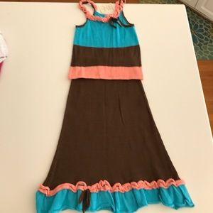 NWT Zackali-4-Kids maxi skirt set