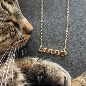WILA Jewelry - WILA Meow Hand Stamped Bar Necklace