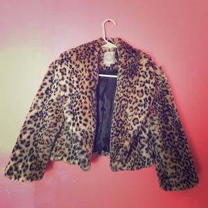 Mini leopard print coat 