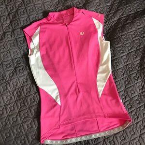 Pearl Izumi Tops - Womens Pearl Izumi cycling jersey pink white small