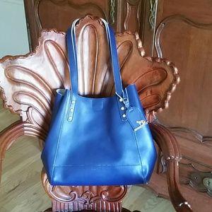 Emma Fox Handbags - Emma Fox dark blue leather bag NWOT