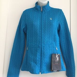 Spyder Sweaters - Spyder Women's Aqua Zip up Sweater size S