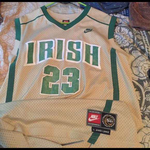 huge discount 7dffd d3ce8 Lebron James Nike 2003 Irish high school jersey