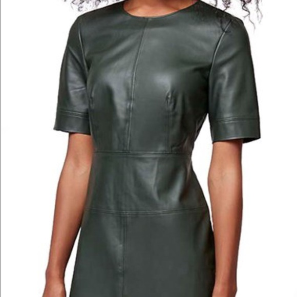 Topshop Dresses & Skirts - Topshop Forest Green Faux Leather Dress