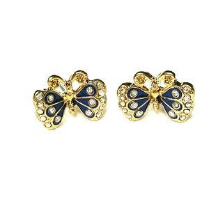 NWOT Betsey Johnson Blue Butterfly Stud Earrings
