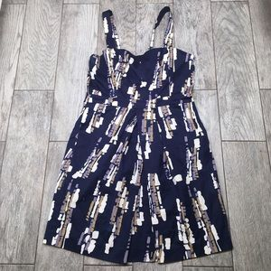 Abaete Dresses & Skirts - Abaete Navy Abstract Print Dress 12