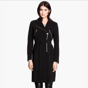 H&M Jackets & Blazers - H&M size 2 motorcycle trench coat