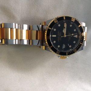 Men two tone luxury watch