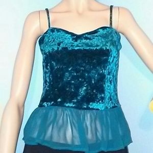 90s Style Turquoise Tank top