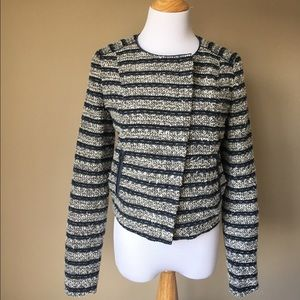 LOFT Jackets & Blazers - LOFT striped tweed blazer
