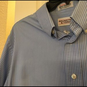Men's blue striped shirt