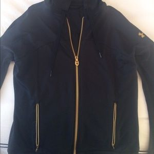 NWOT Under Armour Black and Gold Zip Up Hoodie