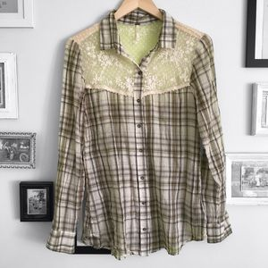 Free People Button Up Shirt
