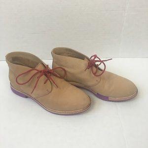Cole Haan Chukka Tan Leather Purple Sole Boot