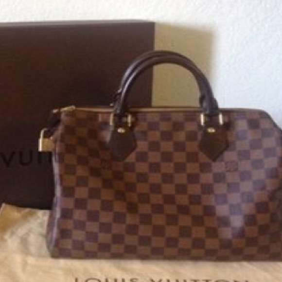 284f6d3a3d8e Louis Vuitton Handbags - Louis Vuitton Speedy 30 Damier Ebane Tote Bag