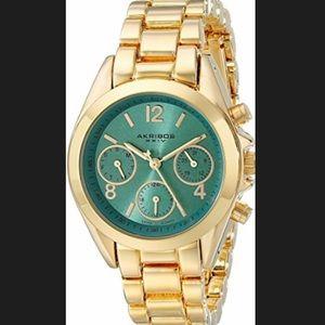 Akribos XXIV Accessories - 🌟HP🌟 NWT Akribos XXIV gold watch with blue face