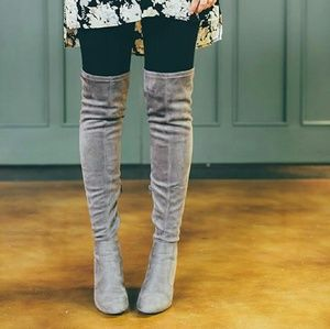 Forever 21 Shoes - Forever 21 Over-the-Knee Grey Boots