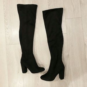 Forever 21 Shoes - Forever 21 Over-the-Knee Black Boots