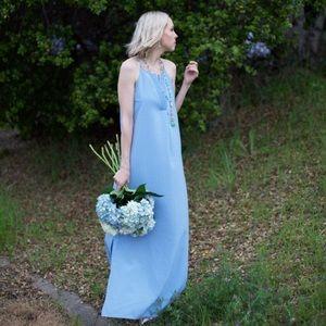 Dresses & Skirts - Brigitte Chambray V-Neck Maxi Dress
