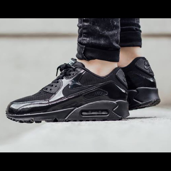 top fashion d90a8 99cd7 Women's Nike black patent leather air max 90. M_58a230db78b31c6a900c95c4