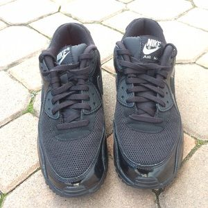 Nike Air Max 90 Donne In Pelle Nera rCwmFIRpI
