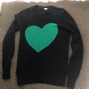 Cute J.Crew Heart Sweater  Size Small