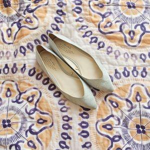 Zara Silver Shimmer Flats