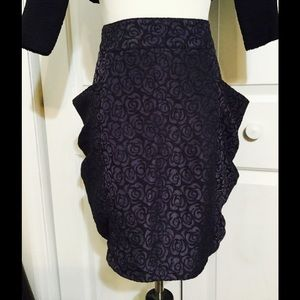 Tulle Dresses & Skirts - Tulle Brand Purple Rose Brocade Skirt with POCKETS