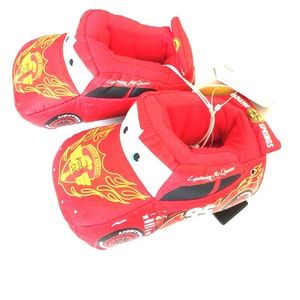 Disney Other - Disney Cars Lightning McQueen red black slippers