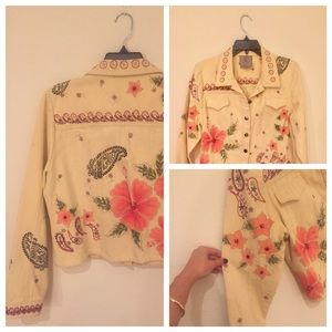 Floral Jean jacket!