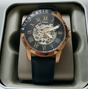 fossil Other - NWT fossil automatic rose and blue watch