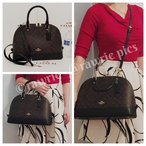 SALE New Coach signature large Domed Satchel