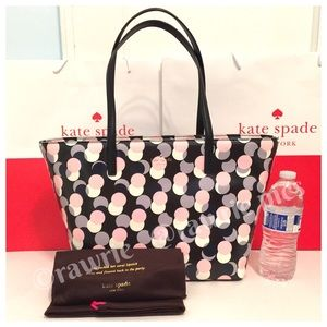 SALE New Kate Spade Harmony tote multi polka dot