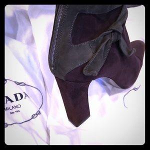 Prada Shoes - Reduced!!💥 Suede Prada Boots