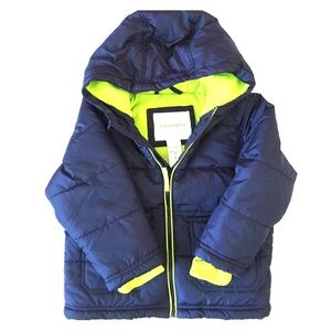 Tough Skins Other - NWT Tough Skins blue green puffer fleece coat 3T