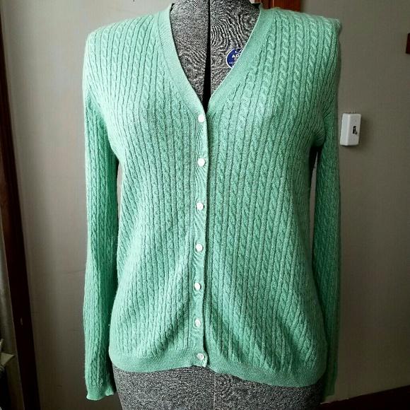 Brooks Brothers Sweaters - Brooks Brothers cashmere silk cardigan green 89986c6f3