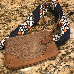 Coach Handbags - Coach brown wristlet