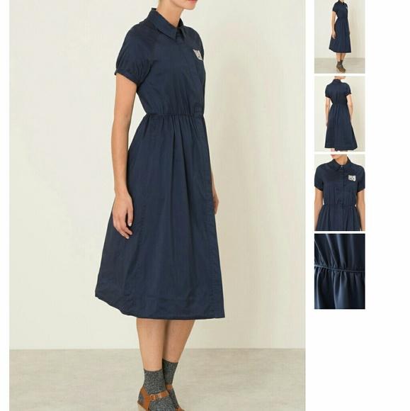 PAUL /& JOE Sister Navy  Blue Dress Size EU 38 will fit Medium
