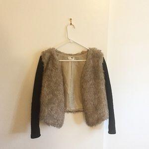 LF Jackets & Blazers - LF fur knit sweater vest jacket!