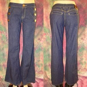 Rocawear Denim - Dark denim sailor wide leg flare bell bottom jeans