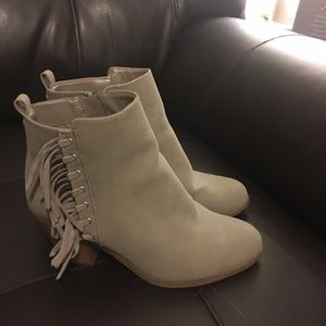 Circus gray booties with fringe SIZE 8.5