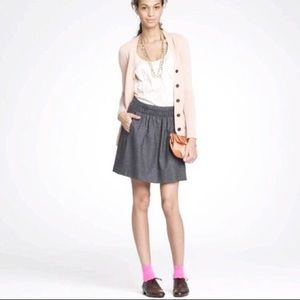 J. Crew shirred wool skirt 6