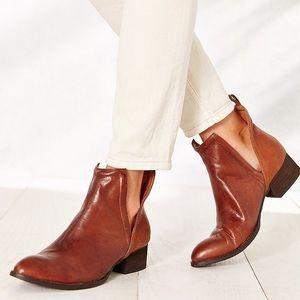 Jeffrey Campbell Muskrat Leather Cutout Booties